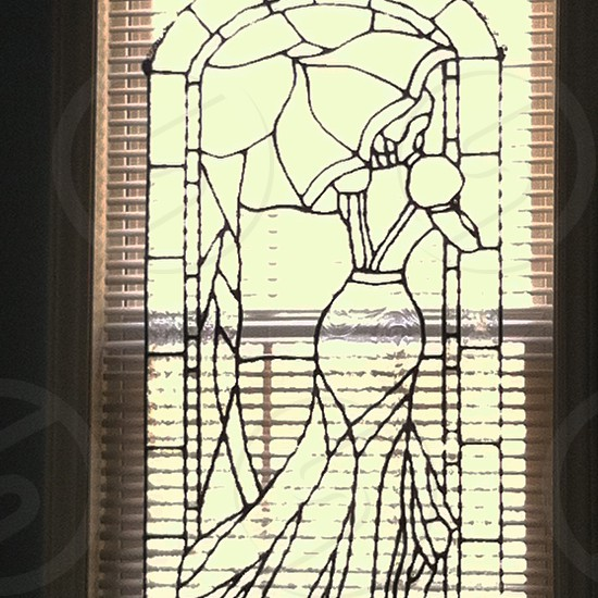 Stained glass portrait photo