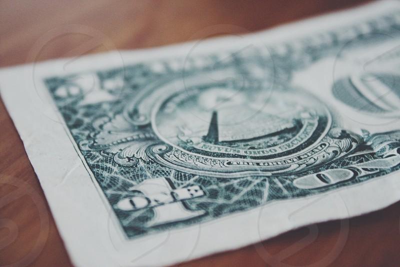 1 us dollar bill photo