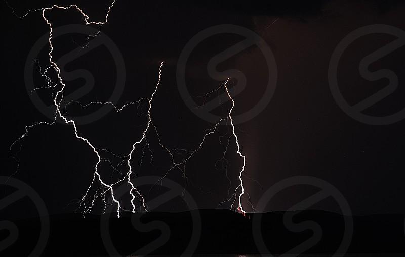 Thunder on the island brac (Croatia) photo