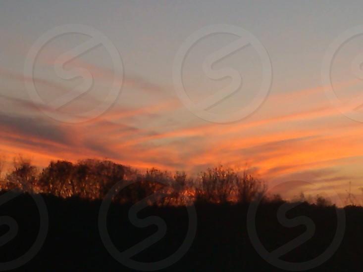 Sunset Warren Massachusetts photo