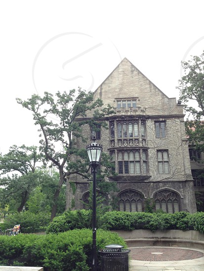 One of the many beautiful gothic-style buildings located in the University of Chicago's campus.  photo