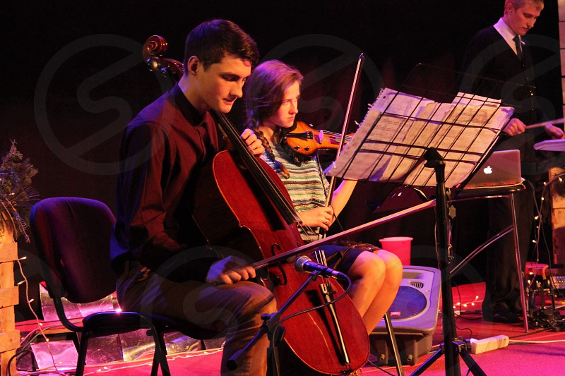 Two musicians  photo