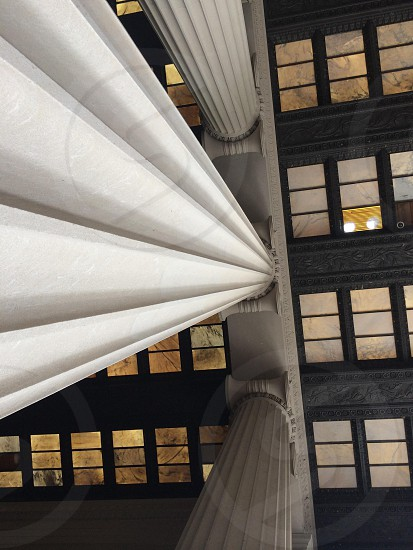 The Lincoln Memorial from an architectural angle. photo