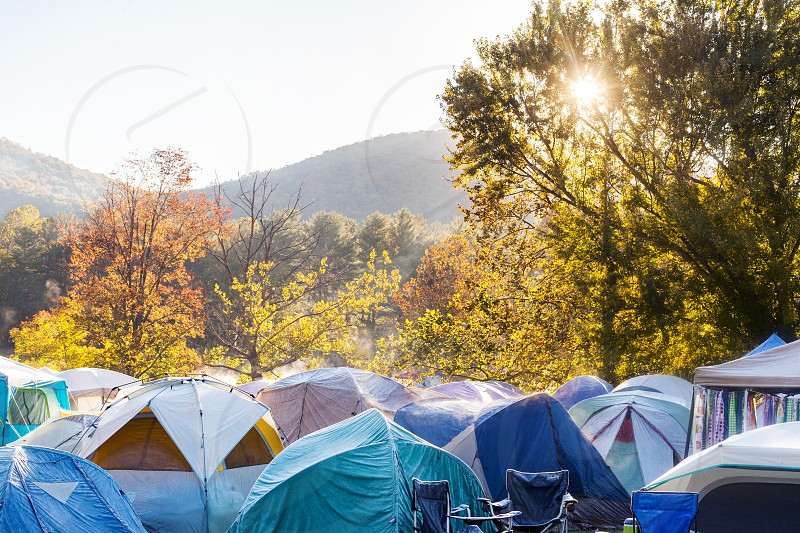 Camping in the Blue Ridge Mountains in Western North Carolina photo