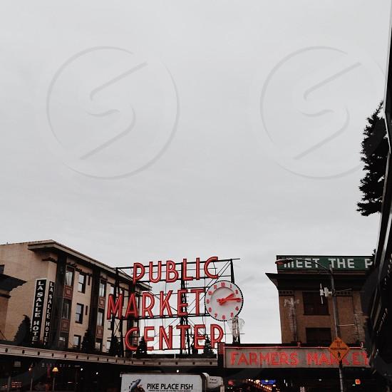 Pubilic Market Center bulletin board photo