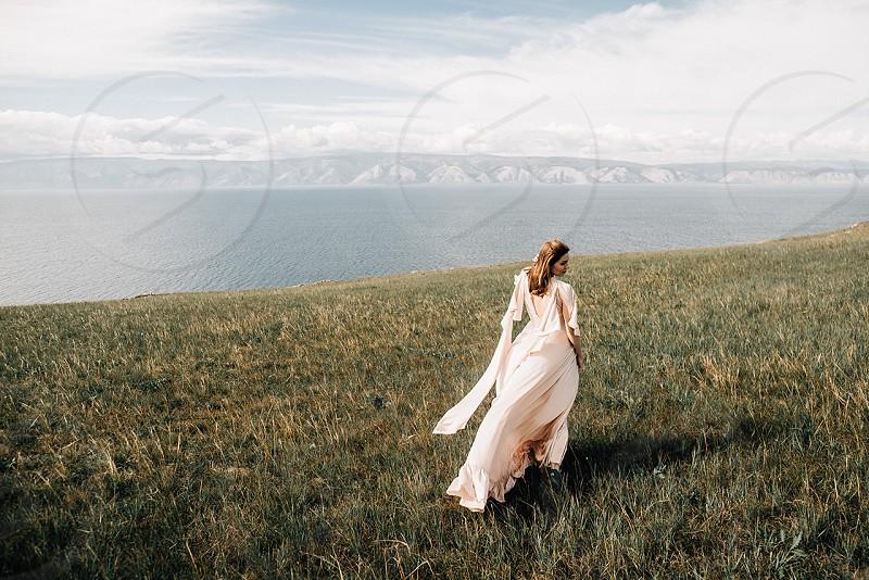Girl on Baikal lake  photo