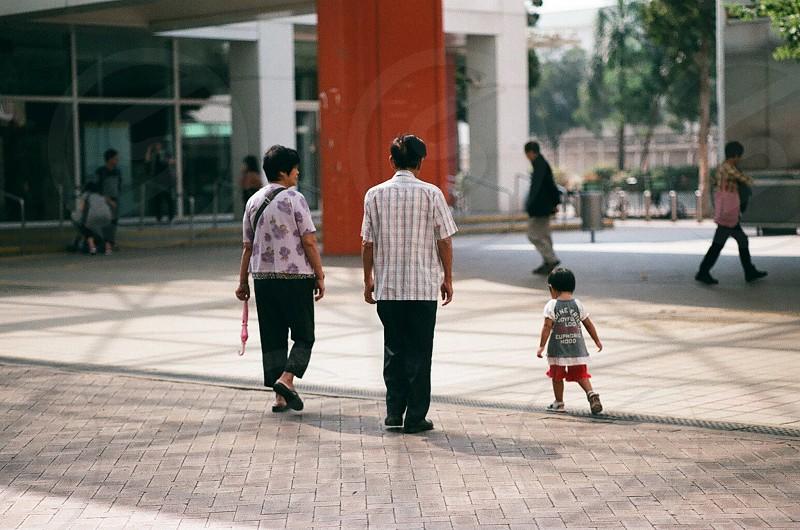 Child & Elder@Oct2013 (Nikon Fm2 Fuji iso200) photo