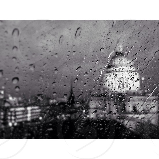 St. Paul's Cathedral beyond the rain. photo