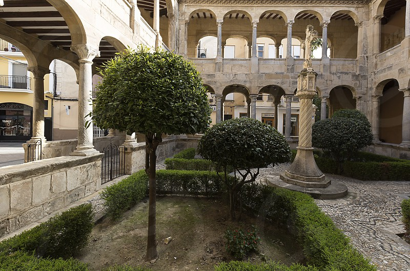 Cloister of the Cathedral of Orihuela in the provincica of Alicante Spain. photo