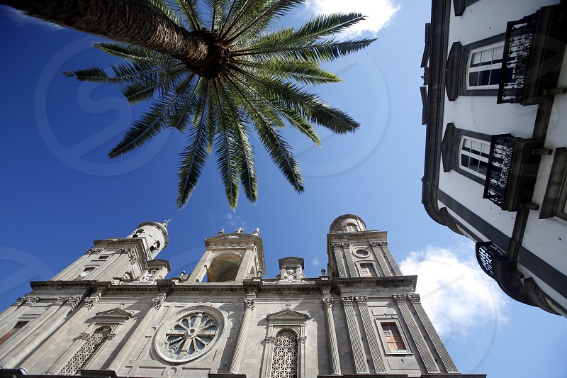 the cathedral in the city Las Palmas on the Canary Island of Spain in the Atlantic ocean. photo