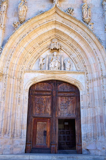 Burgos San Nicolas church door in Castilla Leon of Spain photo