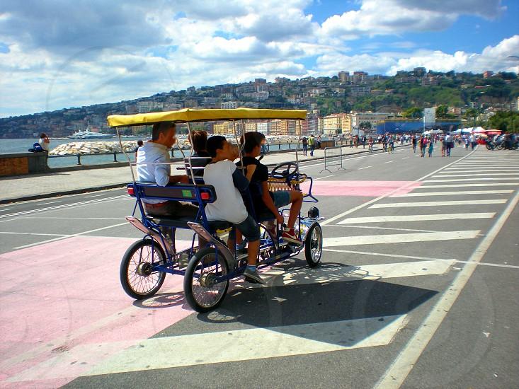 Naples sea beach landscape travel vacation city park. photo