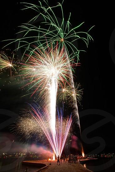 Fireworks on Lake Hamilton photo