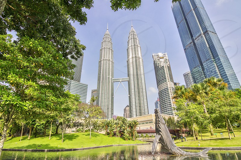 the humpback whale sculpture is the signature art piece in klcc park near petronas twin towers photo