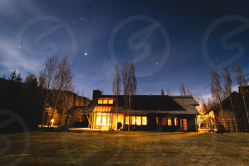 well lighted house photo