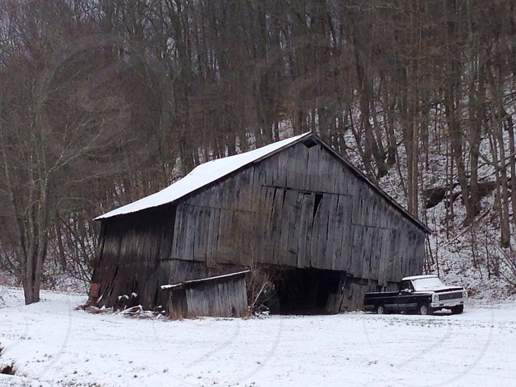 Winter time at the old Barn photo