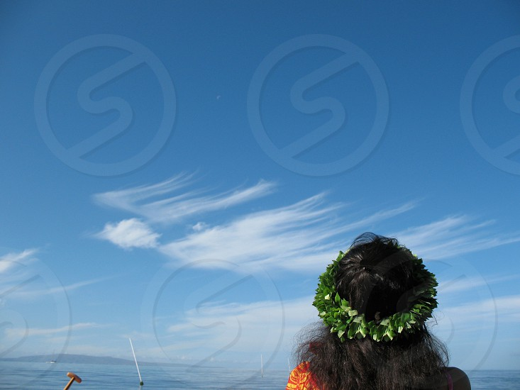 maui angel cloud hawaii ocean contemplative  photo
