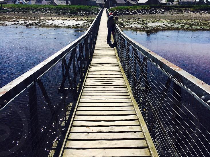 Lossiemouth beach bridge  photo