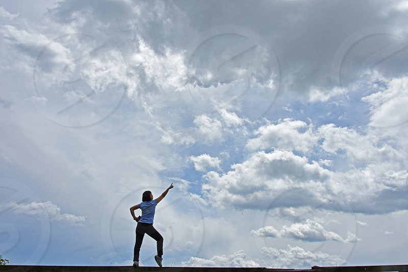 woman dancer sky photo