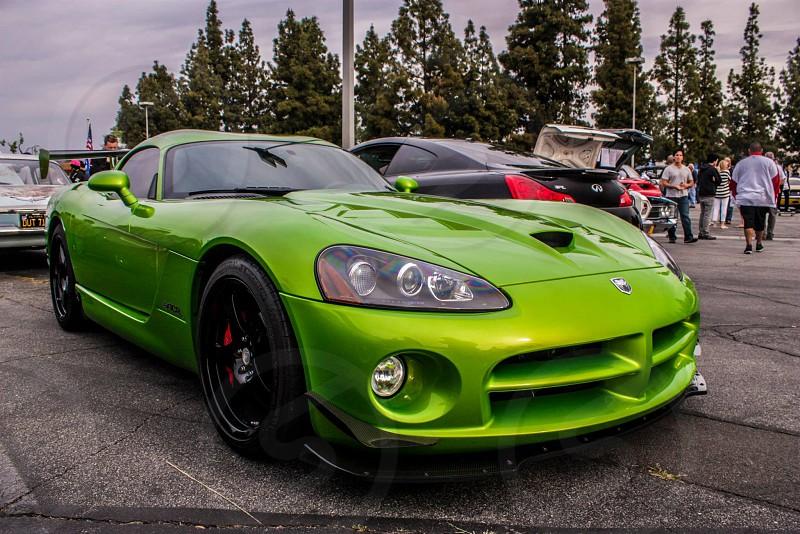 Green Dodge Viper photo