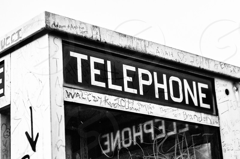Another shot of the telephone booth at Kenny D's in Destin FL. #blackandwhite photo