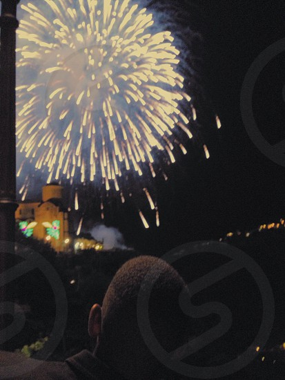 Amalfi . Fireworks . Nighttime . Celebration  photo