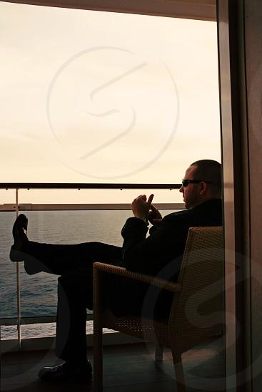 Mediterranean cruise open sea photo