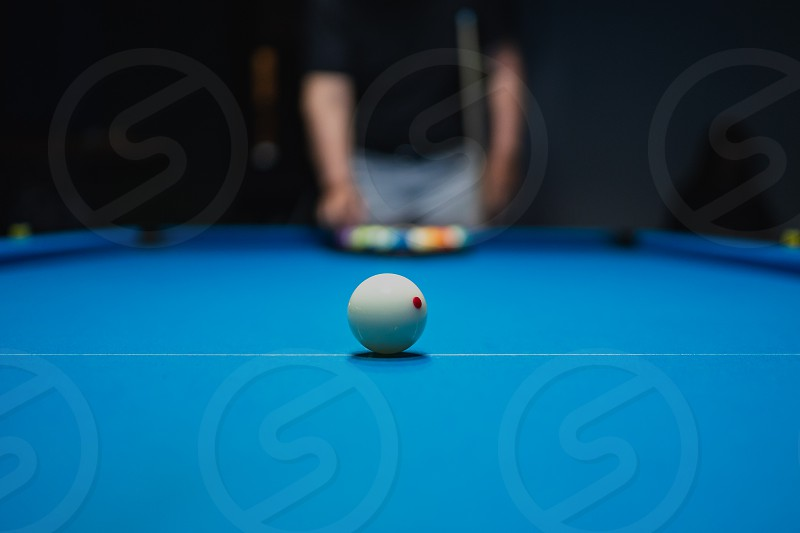 Let's start the game of billiard	 photo