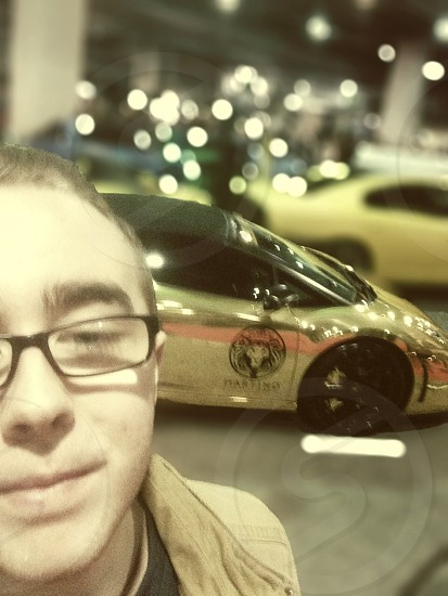 Gold Lamborghini Selfie  photo