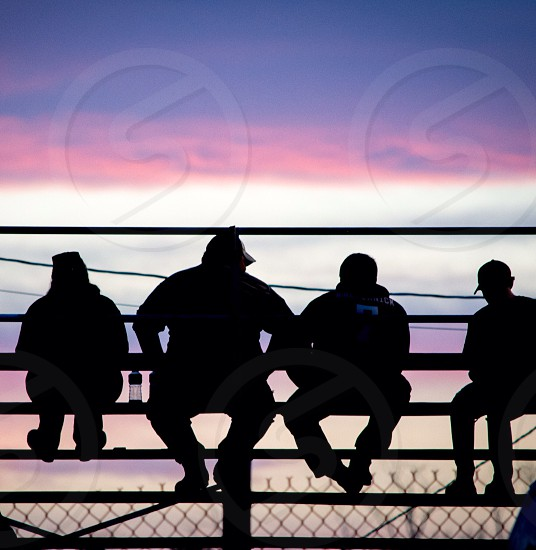humans silhouette photo