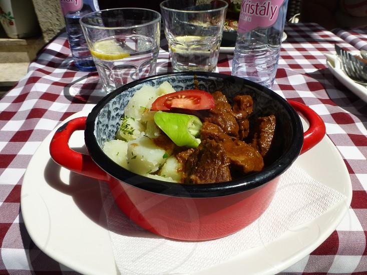 Goulash at Hung(a)ry? Restaurant and Palinka House -  Budapest Hungary photo