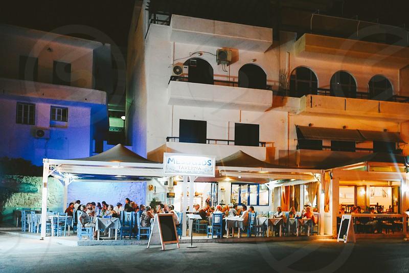 Nightlife restaurants Karpathos  Greece  Greek island  photo
