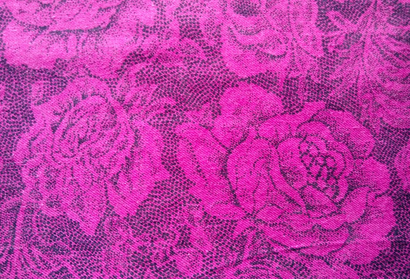 Pink fabric with rose photo