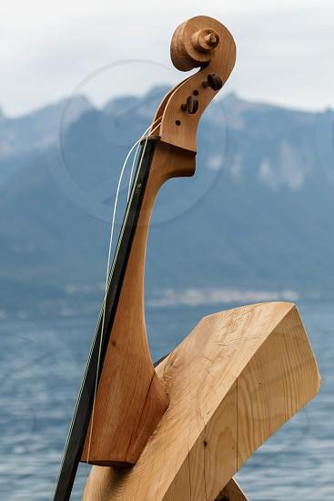 Modern Art Statue in Montreux photo