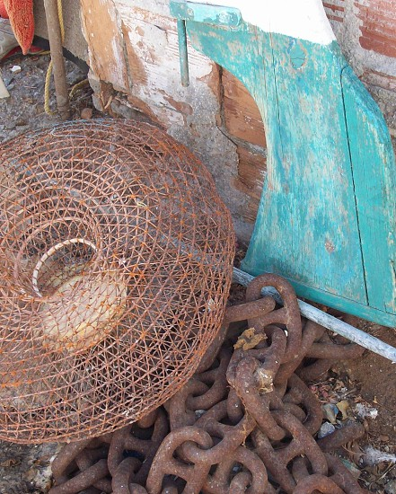 Fishing -Greece - Greek - boats - lobster - crabs - lobster pots - industry - sea  photo