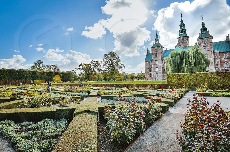 Copenhagen Danmark 28/09/2018: Overview of Rosenborg Park and Castle in Copenhagen photograph taken during a holiday   photo