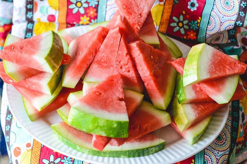 water melon triangular slice photo