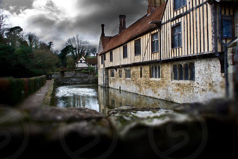 Ightham Mote England Kent Stately Home Moat Architecture  photo