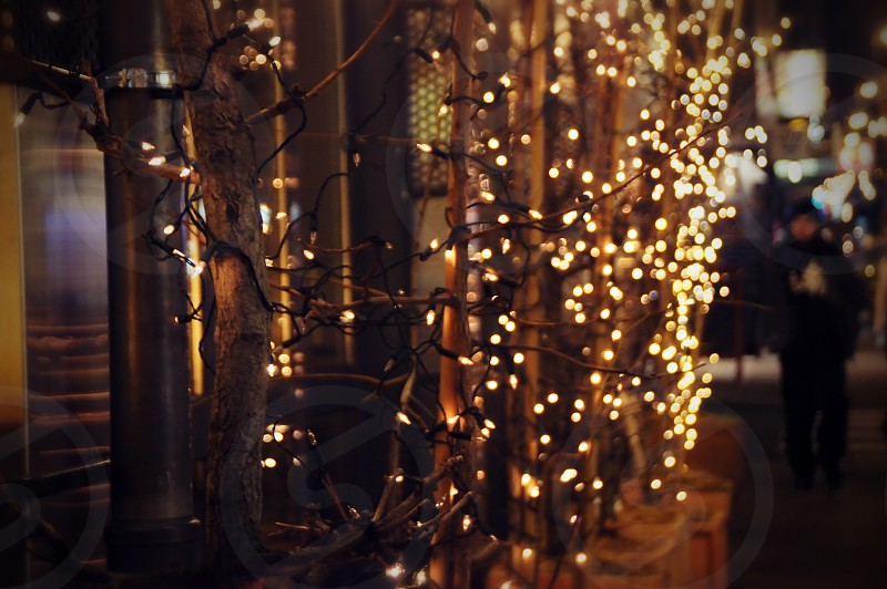 Outdoor lights decoration. photo