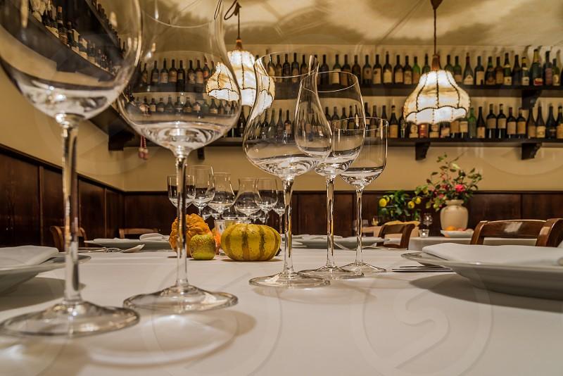 Dining space at Ristorante Groto de Corgnan in Verona Italy.  photo