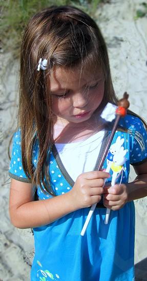 little girl thinking photo