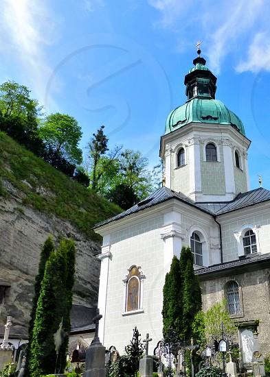 Petersfriedhof in Salzburg. photo