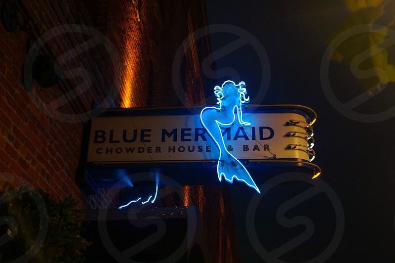 blue mermaid chowder mouse's bar photo