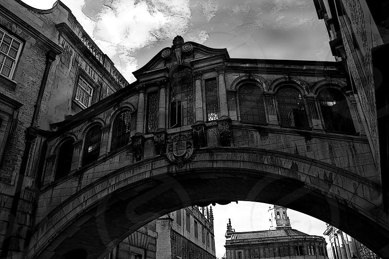 Oxford Oxfordshire bridge monochrome black white architecture  photo