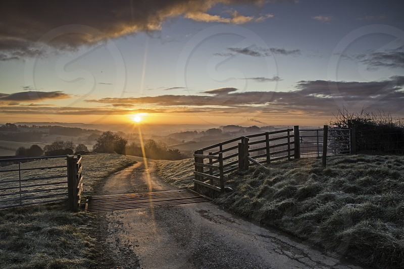 The sunrise start of a new day. photo