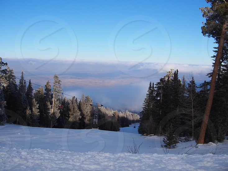 photographed of snow fielde photo