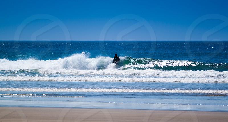 Surf Surfing Waves Beach Ocean photo