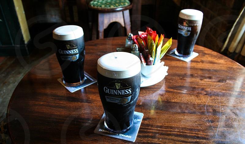 3 Guinness' in Dublin Ireland photo