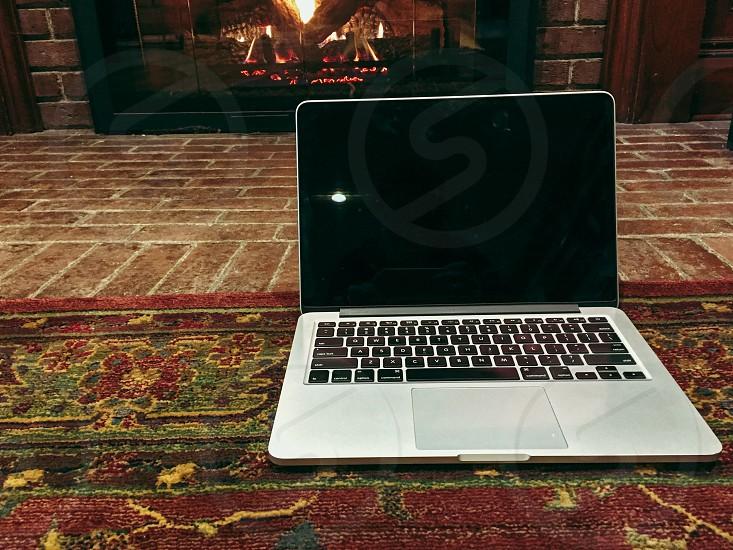 Laptop fireplace  photo
