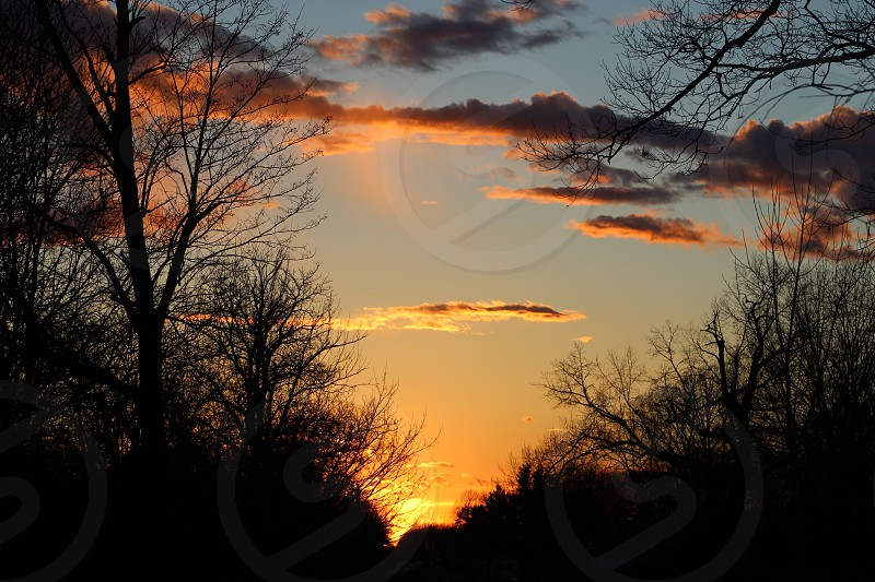 Sunset in Monticello Indiana photo